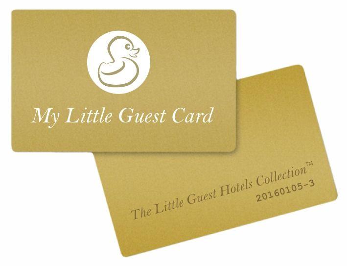 My little guest card