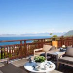 Lake view Royal Evian hotel