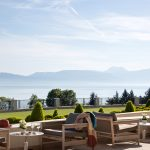 Lake view on the terrasse Royal Evian hotel