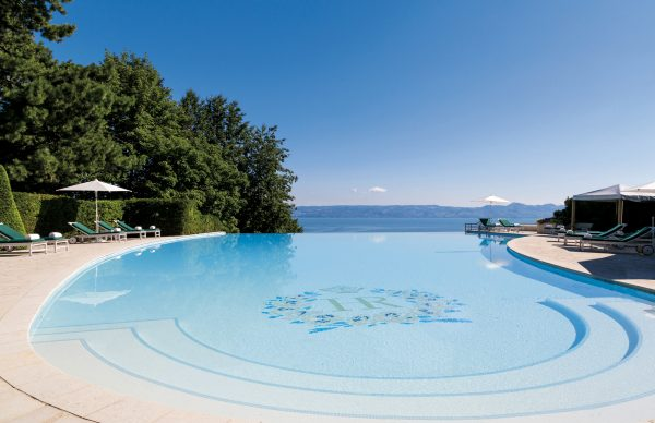 Pool at Royal Evian hotel