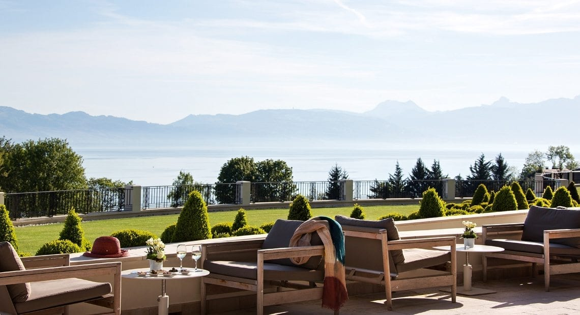 Hotel Royal Evian-view on Lake Geneva