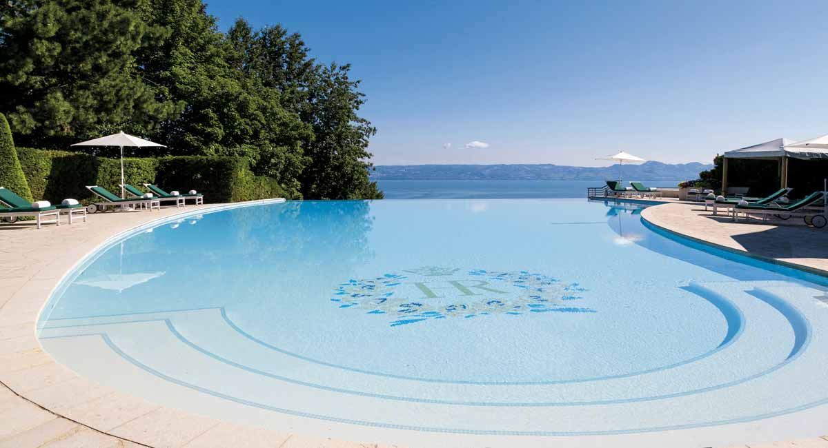 Royal Evian Hotel-Outside pool