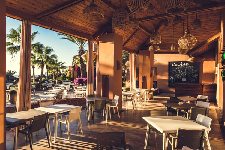 The Lounge restaurant by the pool at the Paradis Plage resort