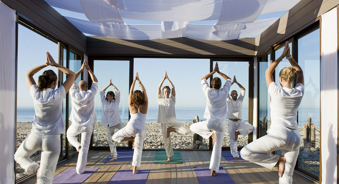 Paradis Plage Hotel-yoga course on the beach