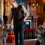 kids enjoying the dogs at Ashford Castle