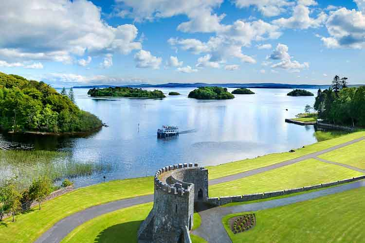 Ashford Castle from the sky