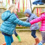Children playing together at Le Domaine des Étangs *****