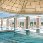 Indoor swimming pool of Cristallo Resort & Spa