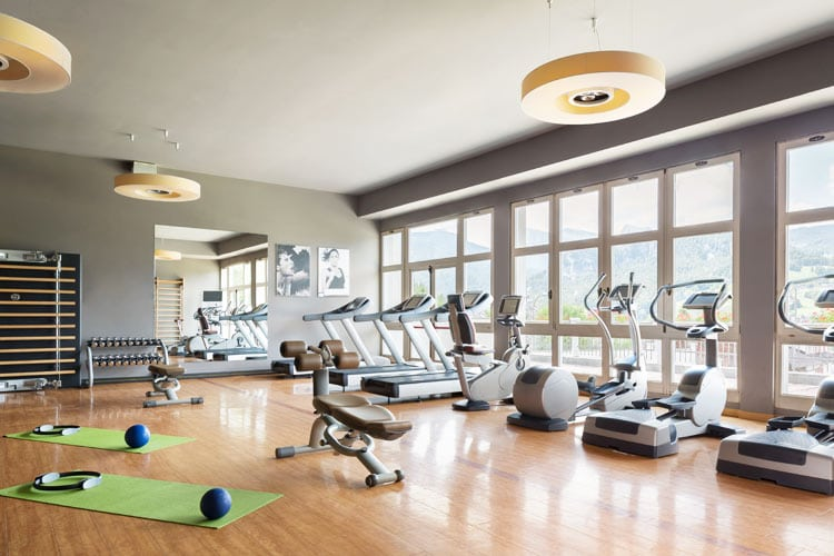 Cristallo hotel fitness room