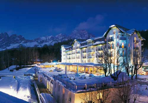 Cristallo hotel Cortina-Night view