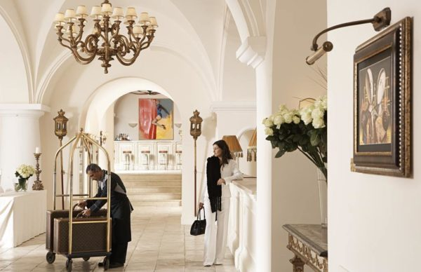 Reception hall at Capri Palace Hotel & Spa