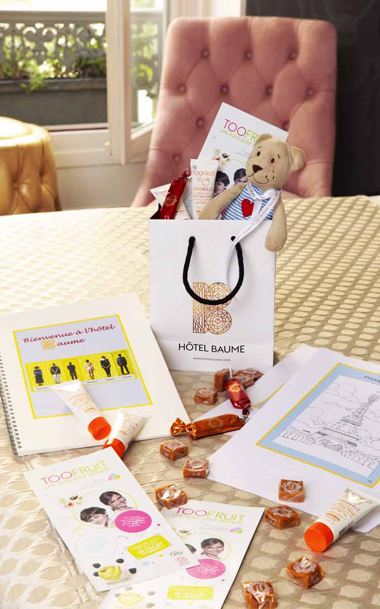 Hotel Baume kids welcome pack