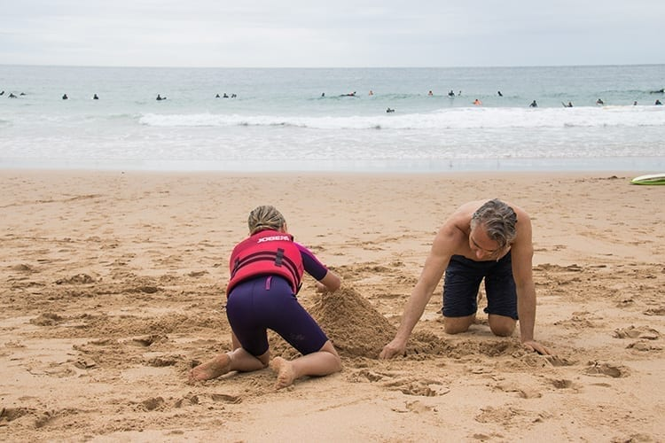 Martinhal Sagres Father and his son playing with the sand