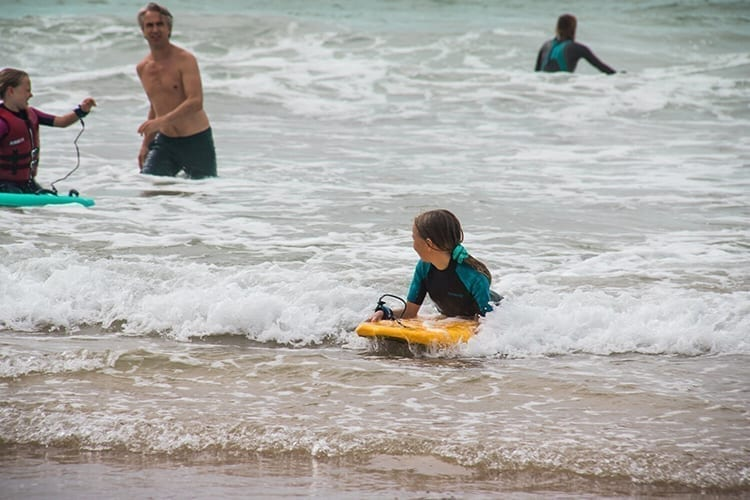 Martinhal Sagres Activity children learning how to surf