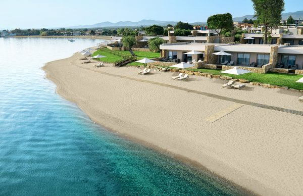 Aerial view of the resort at Ikos Olivia