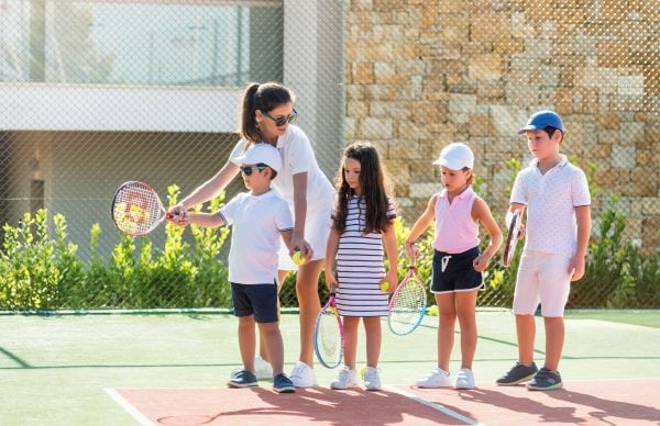 Tennis session with children at Ikos Olivia