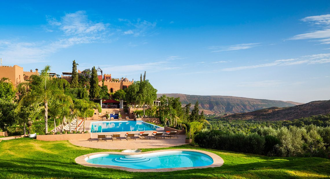 Kasbah Tamadot swimming pool