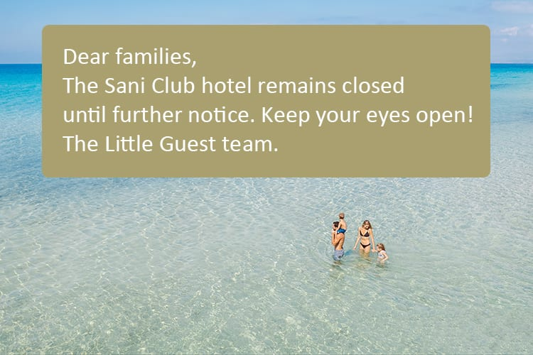 Sani Club opening dates for summer 2020