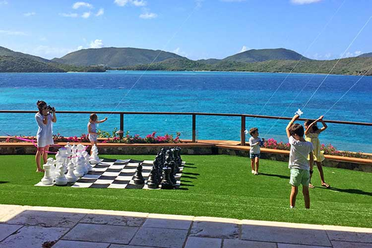 necker island outdoor games