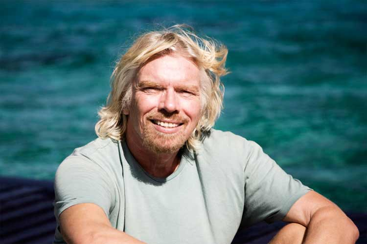 richard branson at necker island