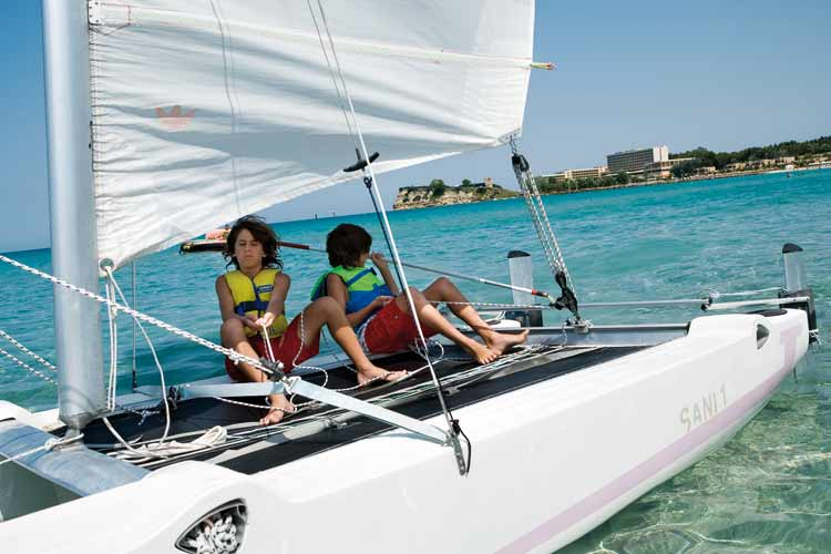 sani resort children sailing