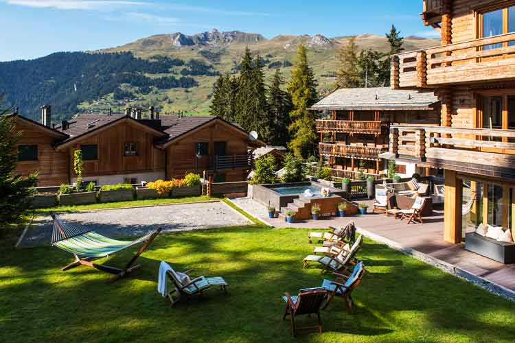 The Lodge Verbier-garden