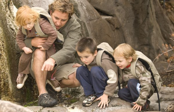 Children at Ulusaba Private Game Reserve watching animals
