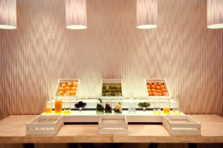 A fruit buffet at Ikos Olivia