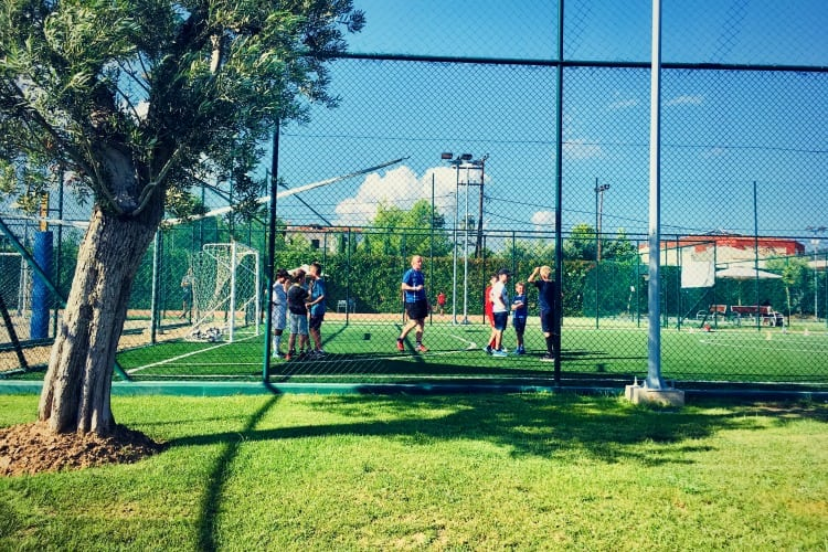 Tennis session at Ikos Olivia