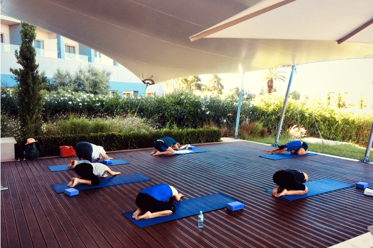 Yoga session at Ikos Olivia
