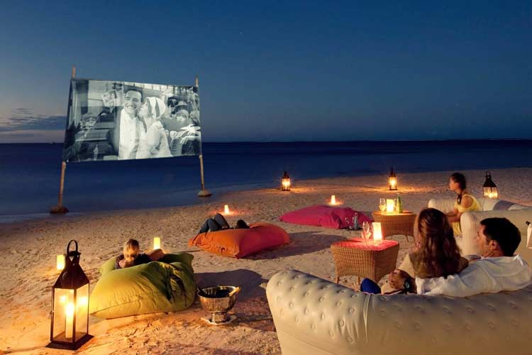 Lux Belle Mare Mauritus-cinema on the beach