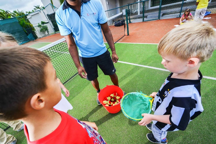 Kids tennis at Lux Le Morne Mauritius