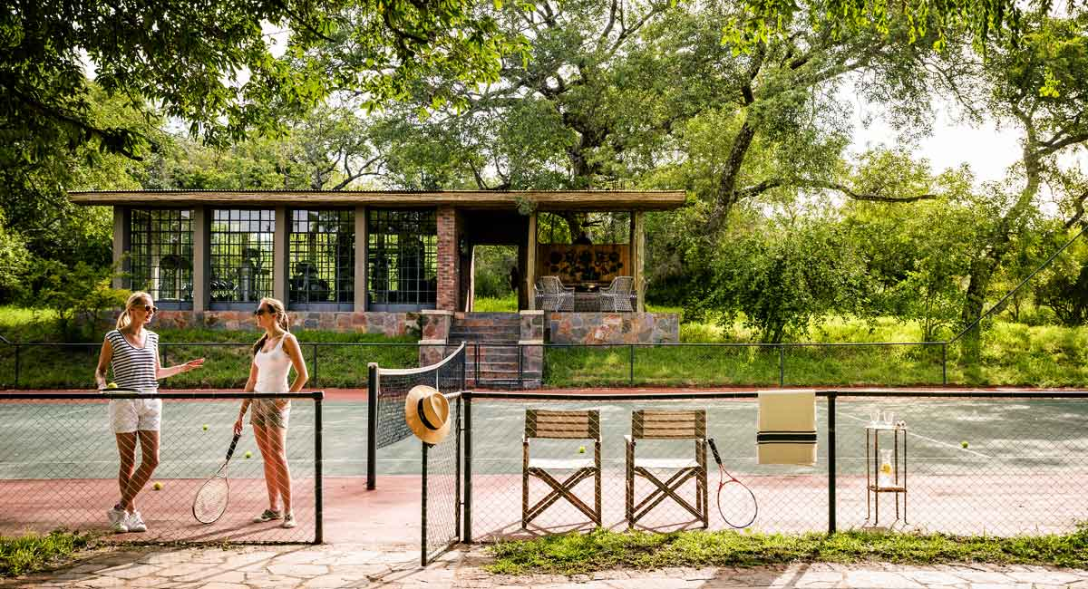 Singita Castleton Tennis court