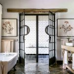 Singita Castleton Bathroom with bathtub and double wash basin