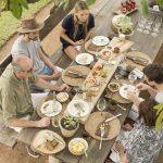 Singita Castleton Family lunch outside in the preserved nature