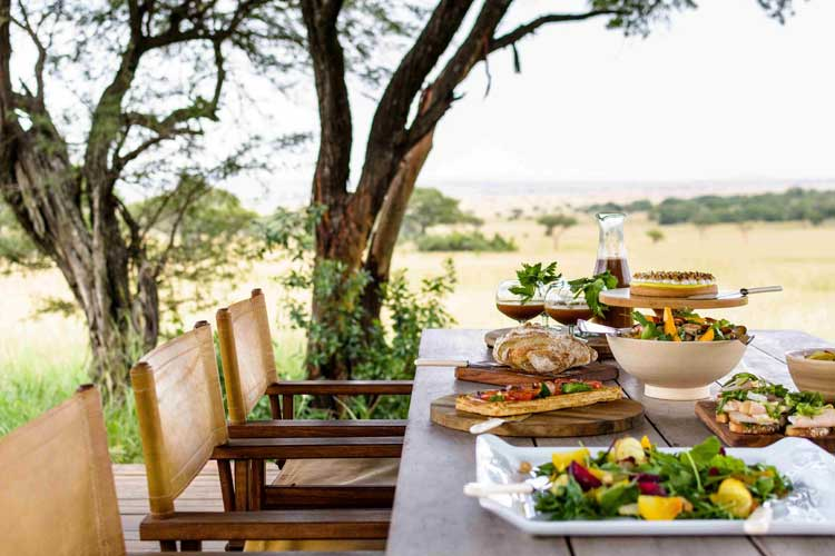 Singita Serengeti House Meal