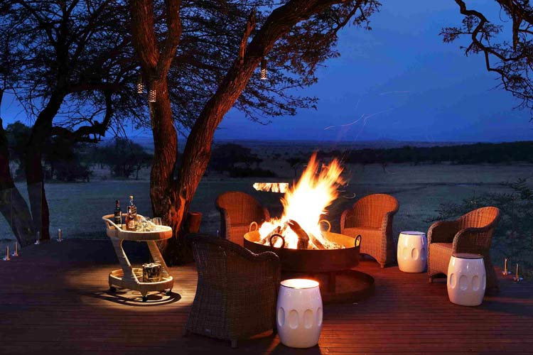 Singita Serengeti House Night