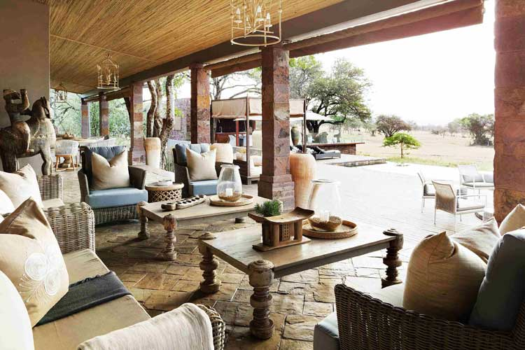 Singita Serengeti House Dinner Room