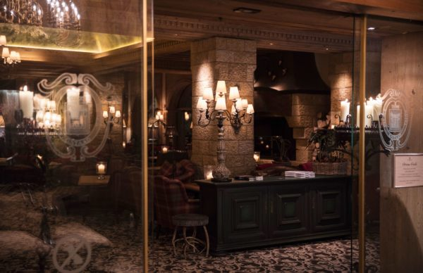 Gstaad Palace lobby and entrance