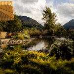 Gstaad Palace surroundings with lakes