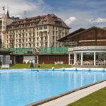 Gstaad Palace outdoor swimming pool