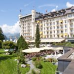 Gstaad Palace exteriors during summertime