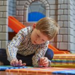 A boy playing at the Gstaad Palace kids club