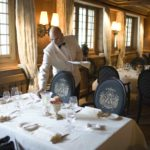 Waiter at Gstaad Palace restaurant