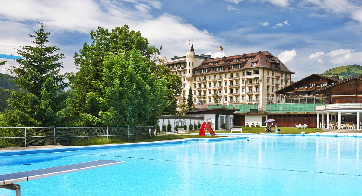 Gstaad Palace-outdoor swimming pool