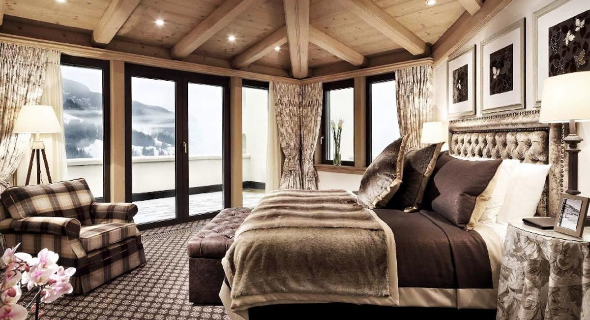 Gstaad Palace-Penthouse suite with mountains view