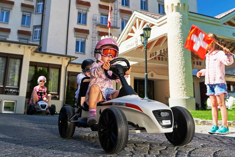 Gstaad Palace-kids car