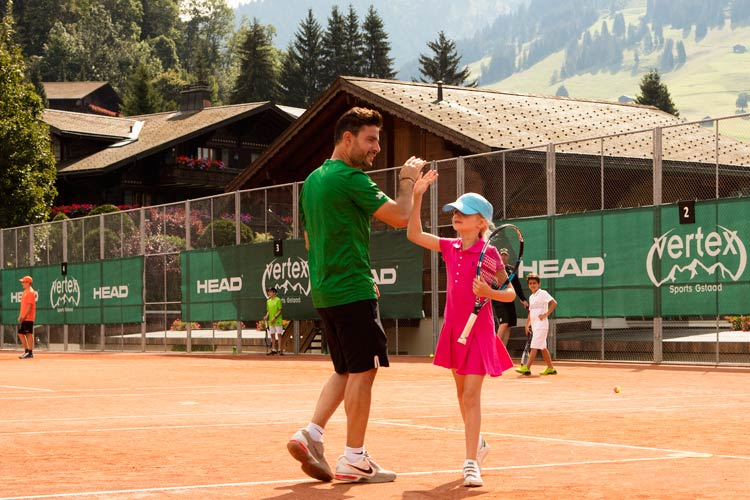Gstaad Palace-kids tennis