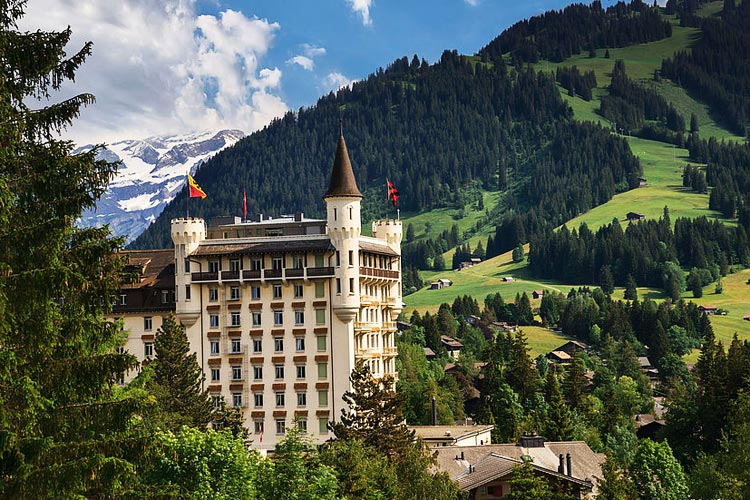 Gstaad Palace-external summer view