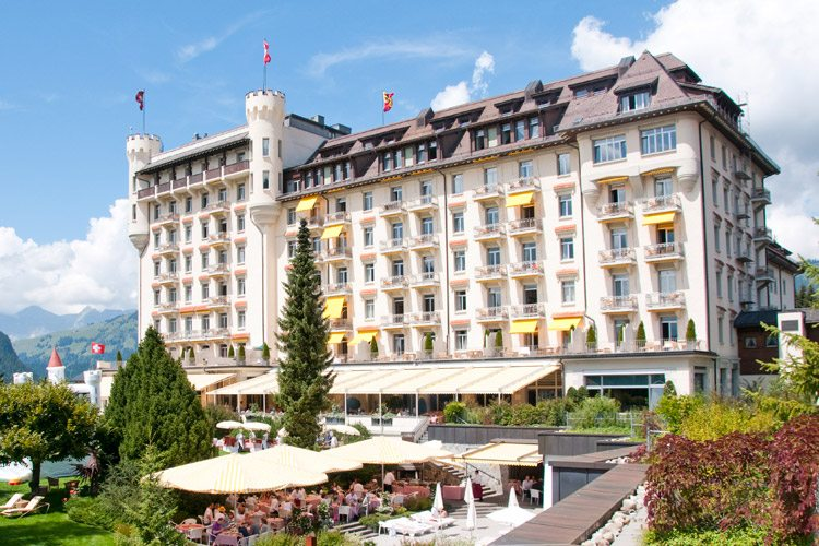 Gstaad Palace-external view of the gardens